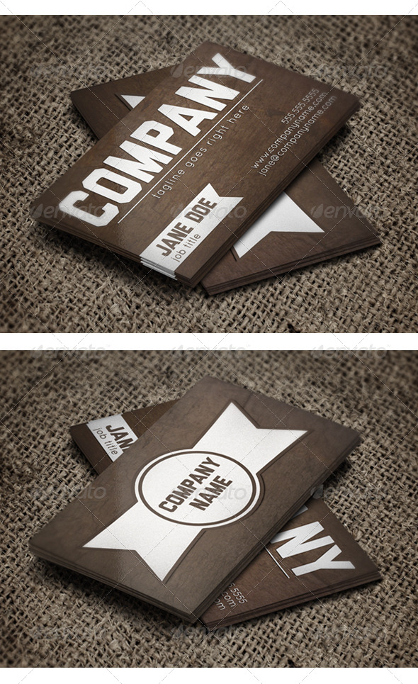 GraphicRiver Subtle Grunge Business Card Brown 4727575