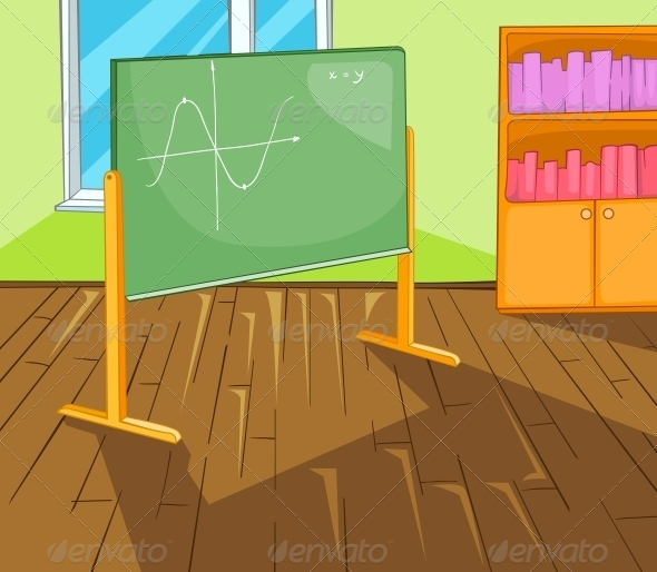 GraphicRiver Classroom Cartoon 5729129