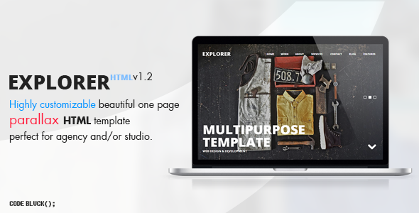 Explorer - One Page Parallax Template