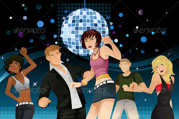 GraphicRiver Young People Partying 5691764