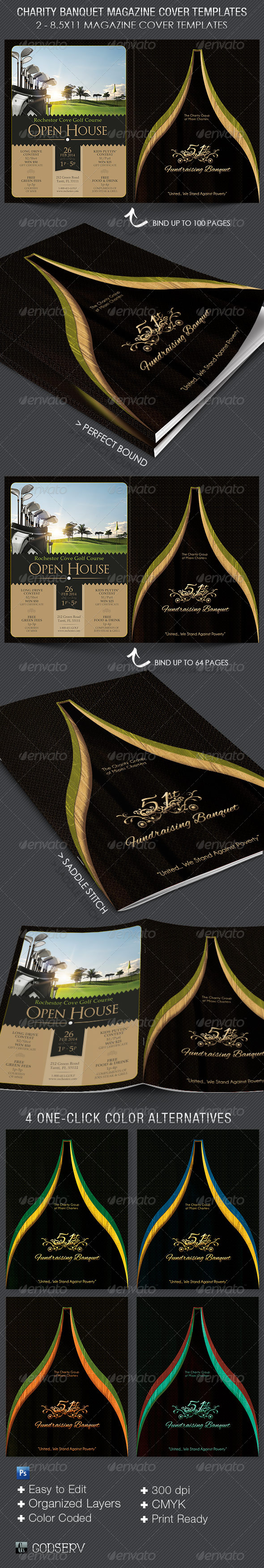 GraphicRiver Charity Banquet Magazine Cover Template 5729544
