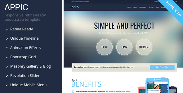 Appic - Business & Technology Bootstrap Template - Software Technology