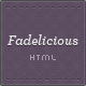 Fadelicious - Responsive HTML Blog &amp;amp; Portfolio - ThemeForest Item for Sale