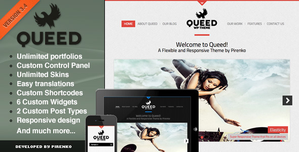 Queed WordPress Theme - Portfolio Creative