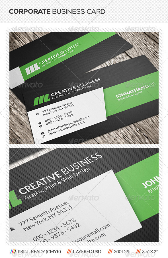 GraphicRiver Creative Corporate Business Card 5733213