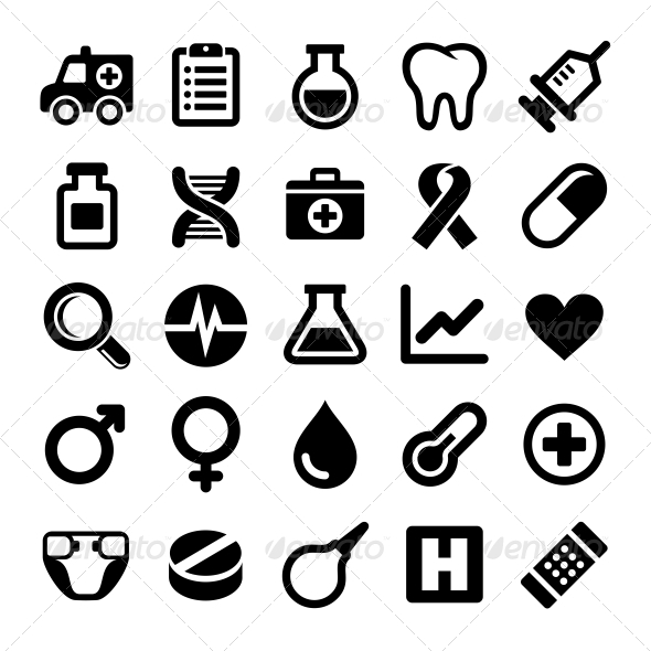 GraphicRiver Medical icons set 5733426