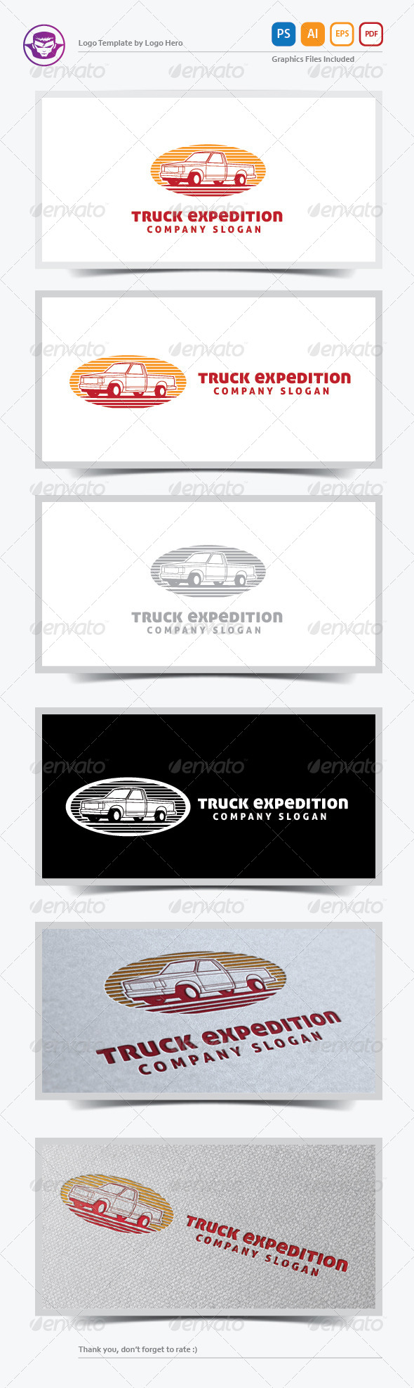GraphicRiver Truck Expedition Logo Template 5733903