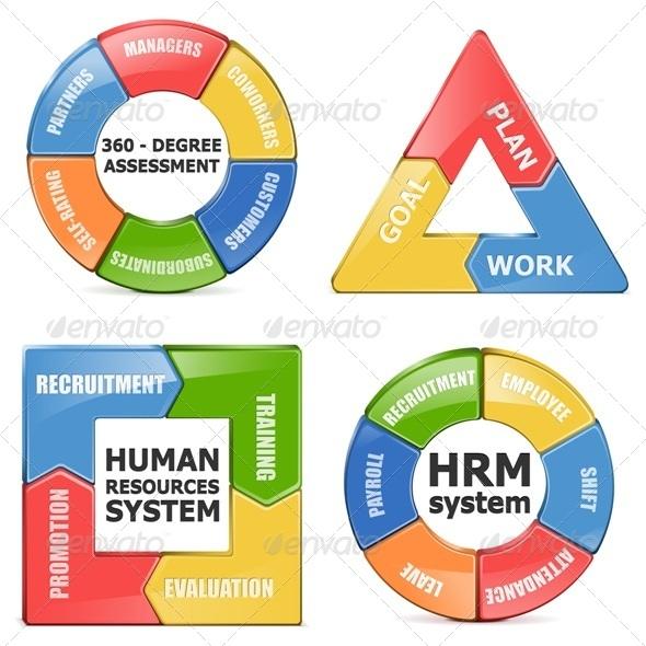 GraphicRiver Vector HRM Diagrams 5734153