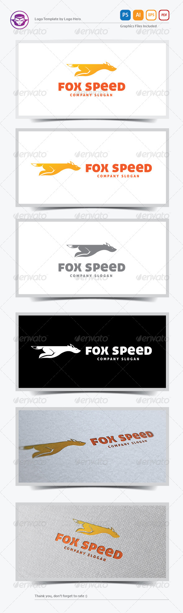GraphicRiver Fox Speed Logo Template 5735253