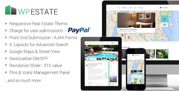 WP Estate Responsive WordPress Theme