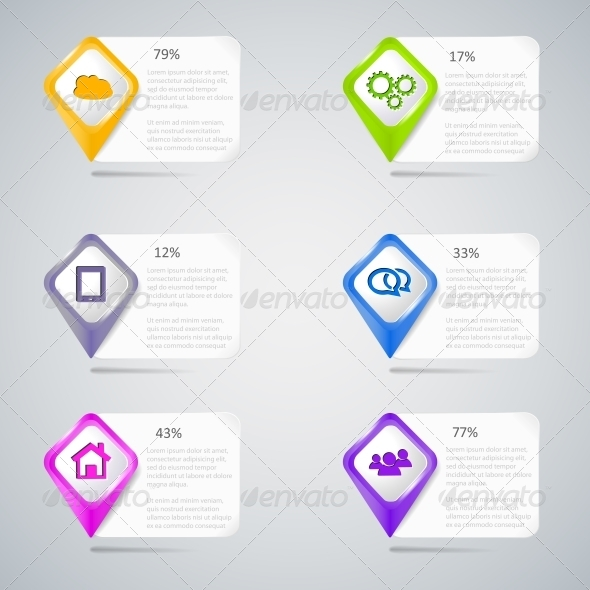 GraphicRiver Colorful Pointers with Infographic Elements 5735909