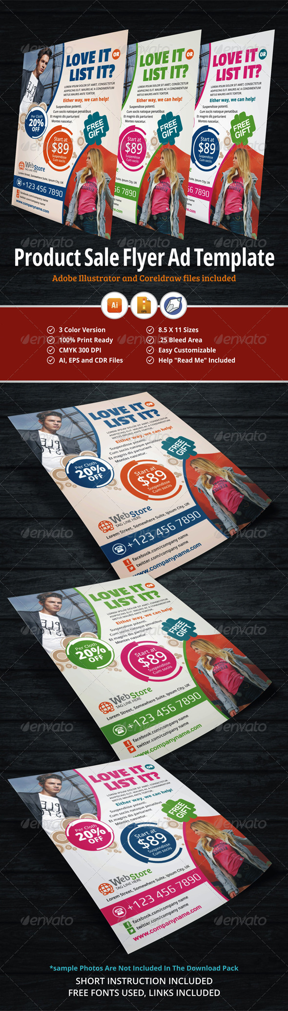 GraphicRiver Product Sale Flyer Ad Template 5736503