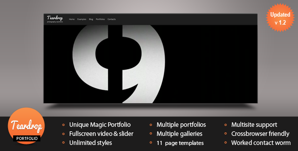 Teardrop - Flexible Photo & Portfolio WP Theme - ThemeForest Item for Sale