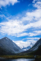 Mountain Beluha. Lake Akkem. Blue sky. Clouds - PhotoDune Item for Sale