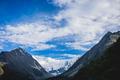 Mountain Beluha. Blue sky. Clouds - PhotoDune Item for Sale