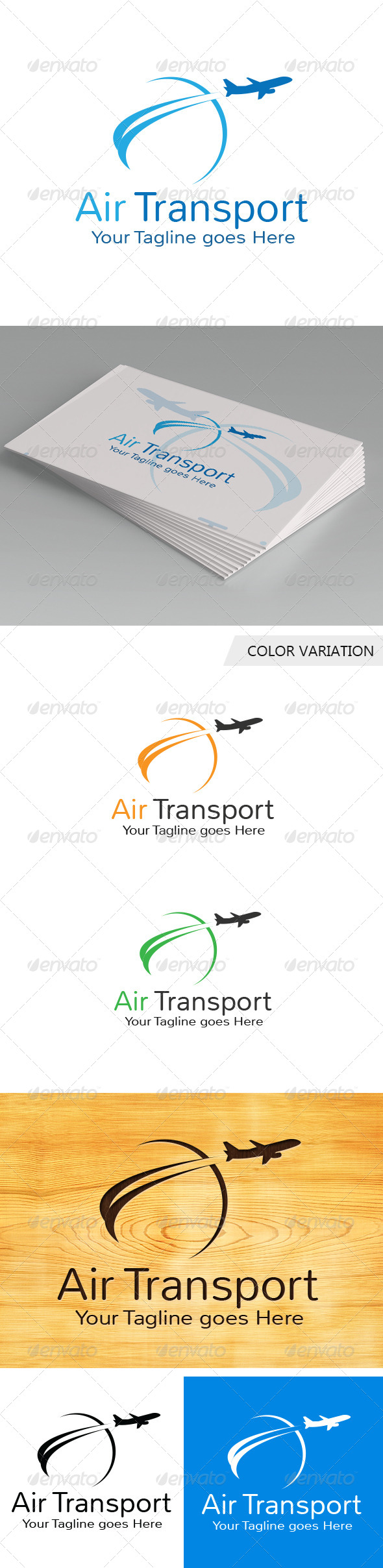 GraphicRiver Air Transport Logo Template 5738117