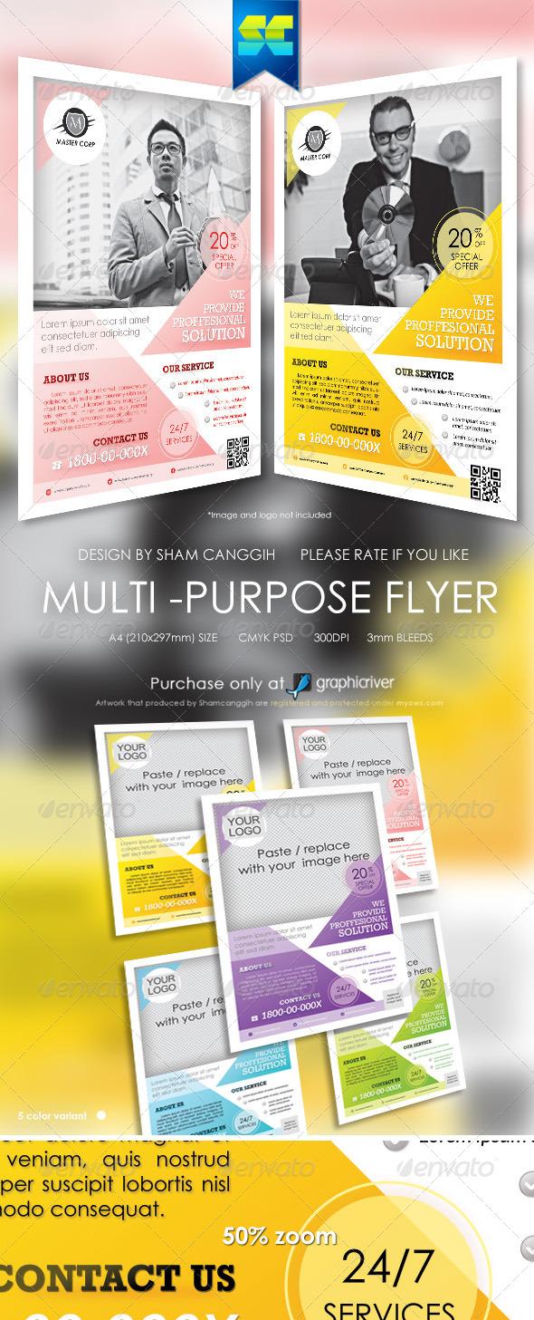 GraphicRiver Clean Multi-Purpose Corporate Flyers 5738124