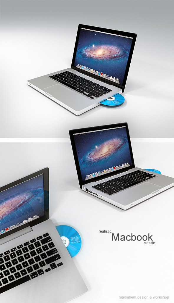 Realistic Mac-book - 3DOcean Item for Sale
