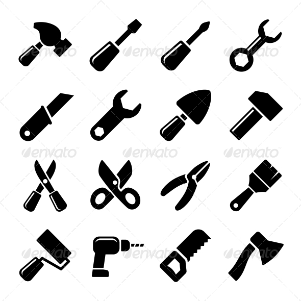 GraphicRiver Working Tools Icon Set 5738323