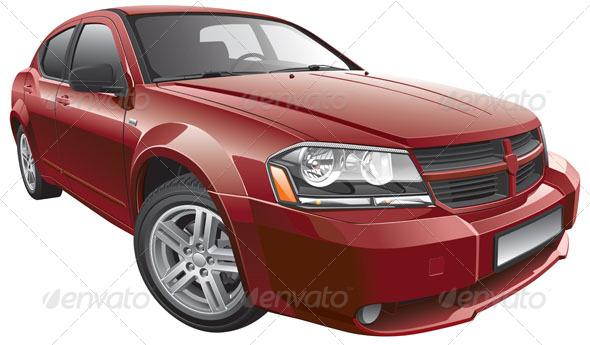 GraphicRiver American Mid Size Car 5738332