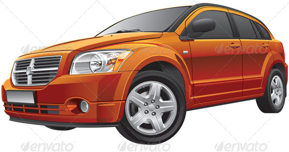GraphicRiver American Compact Car 5738424