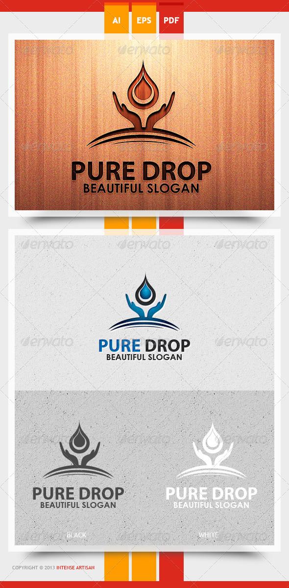 GraphicRiver Pure Drop Logo Template 5738429