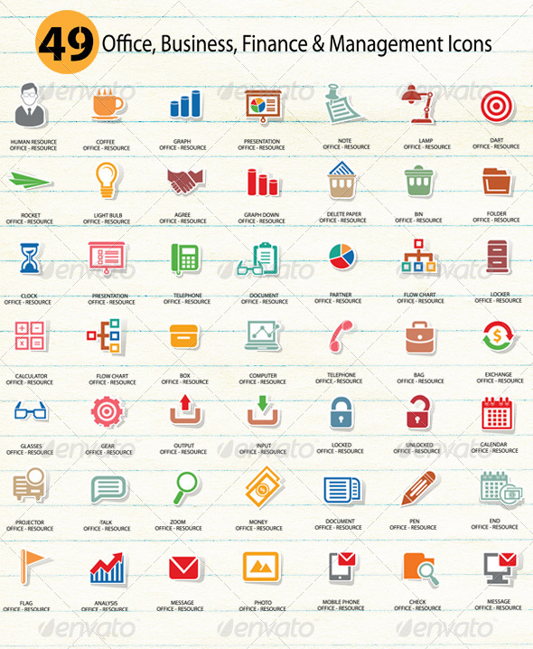 GraphicRiver 49 Office Icons 5738549
