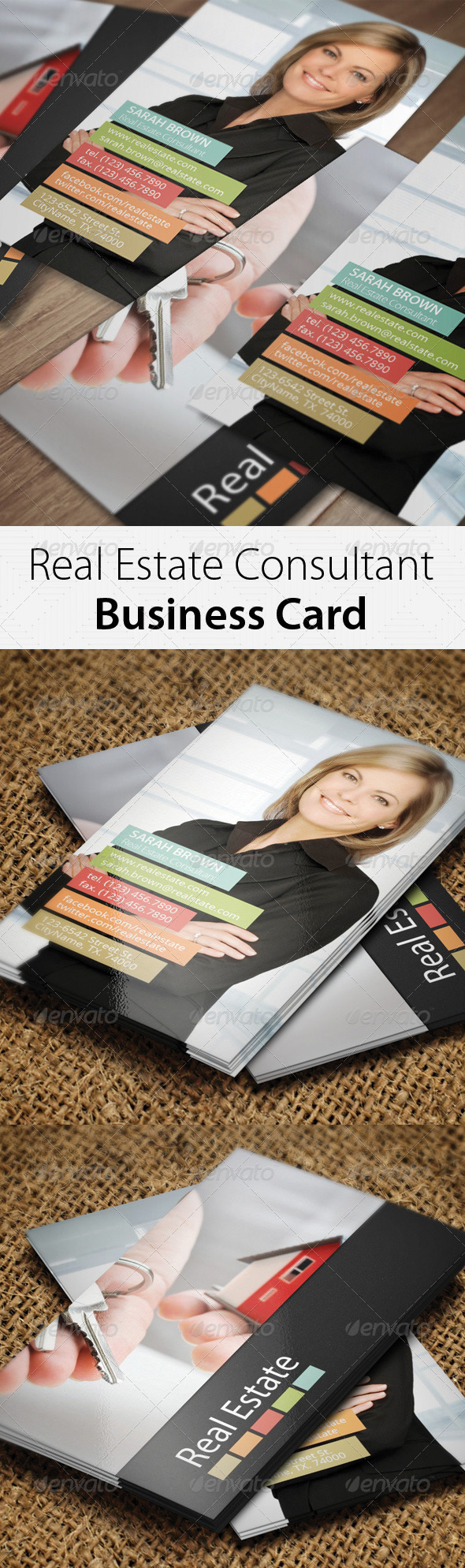 Real Estate Consultant Business Card - Corporate Business Cards