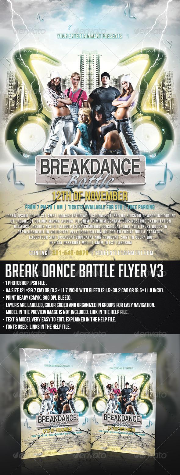 GraphicRiver Break Dance Flyer V3 5739341