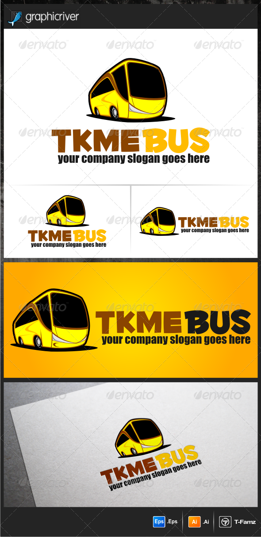 GraphicRiver Bus Cartoon Logo Templates 5739369