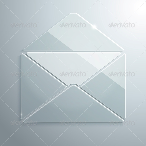 GraphicRiver Glass Icon of an Open Envelope 5739443