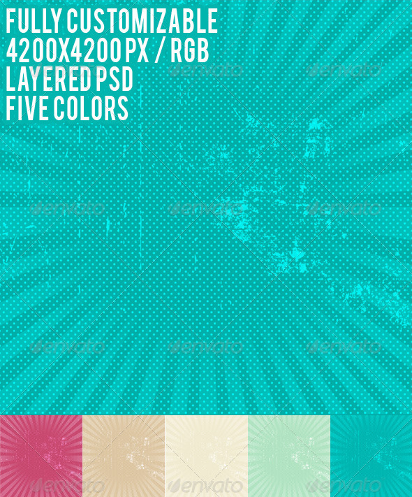 GraphicRiver Grunge Backgrounds in 5 Colors 5739976