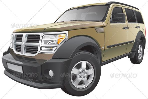 GraphicRiver American Compact SUV 5740006