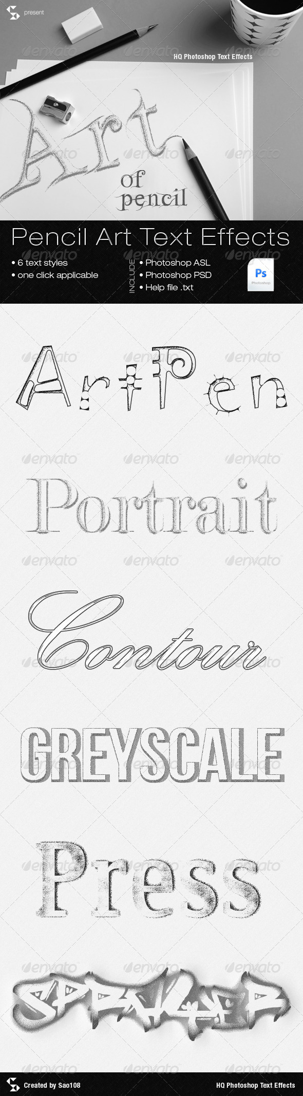 GraphicRiver Pencil Art Text Effects 5740437