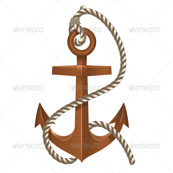 GraphicRiver Old Anchor with Rope 5740459