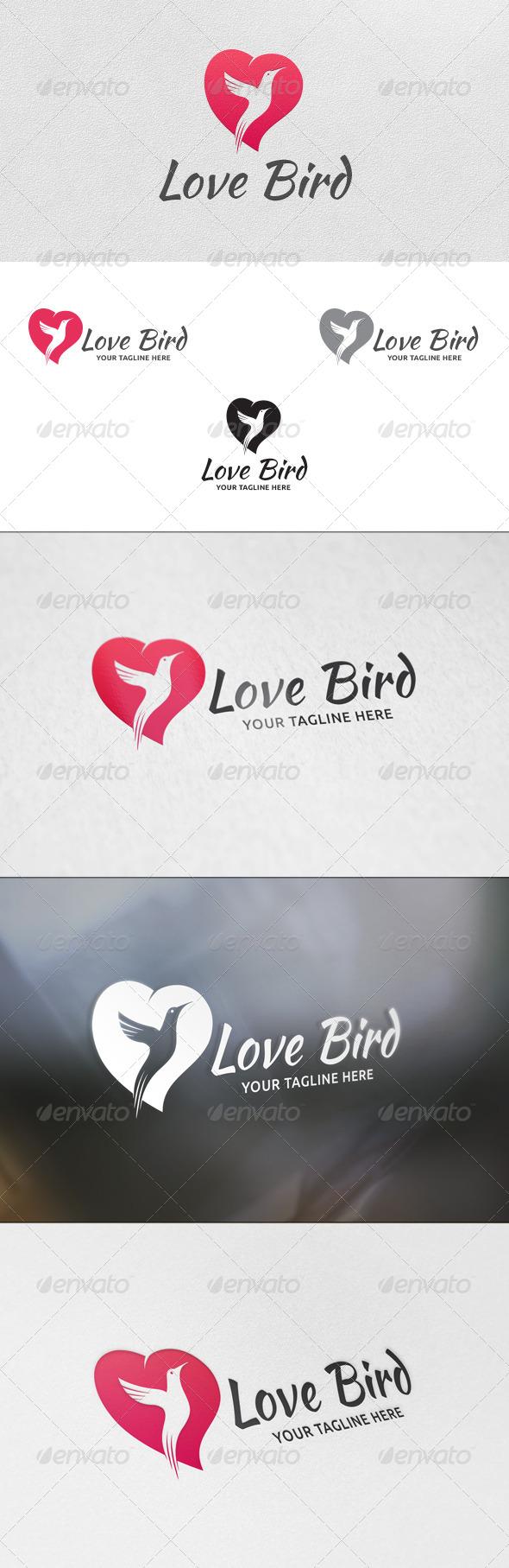 GraphicRiver Love Bird Logo Template 5740582