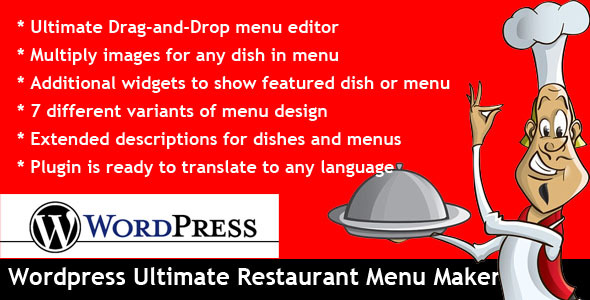 Wordpress Ultimate Restaurant Menu Maker - CodeCanyon Item for Sale
