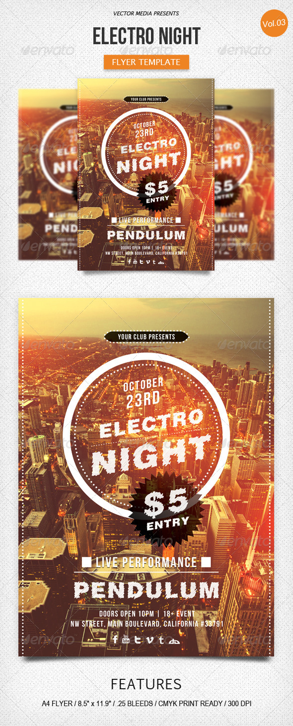 GraphicRiver Electro Night Flyer [Vol.3] 5740603