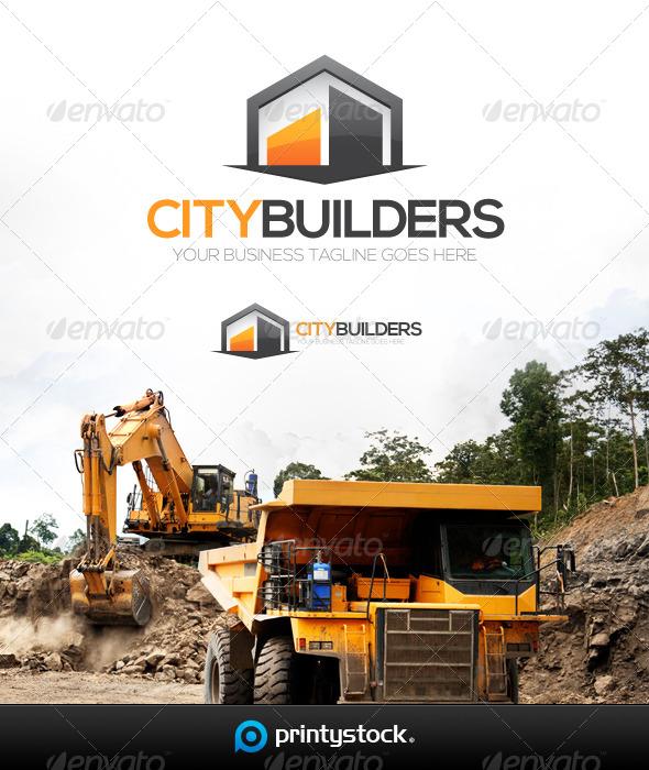 GraphicRiver City Builders Logo Template 5741208
