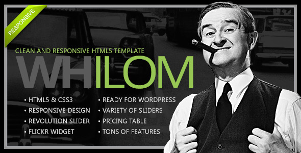 Whilom Responsive HTML5 Template - Creative Site Templates