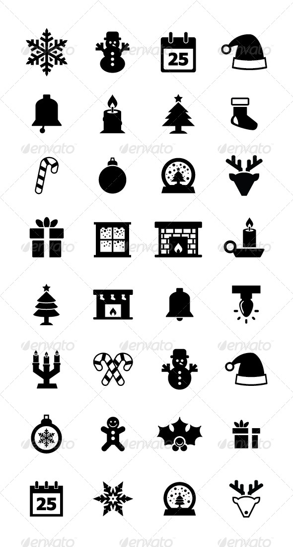GraphicRiver Christmas Icon 5741328