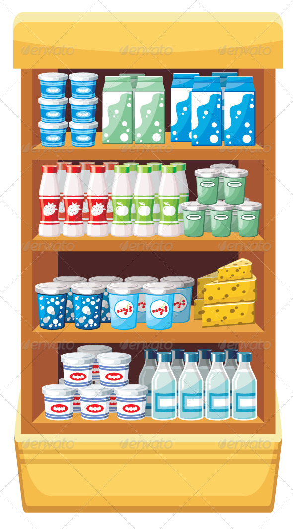 GraphicRiver Supermarket Dairy Products 5741389