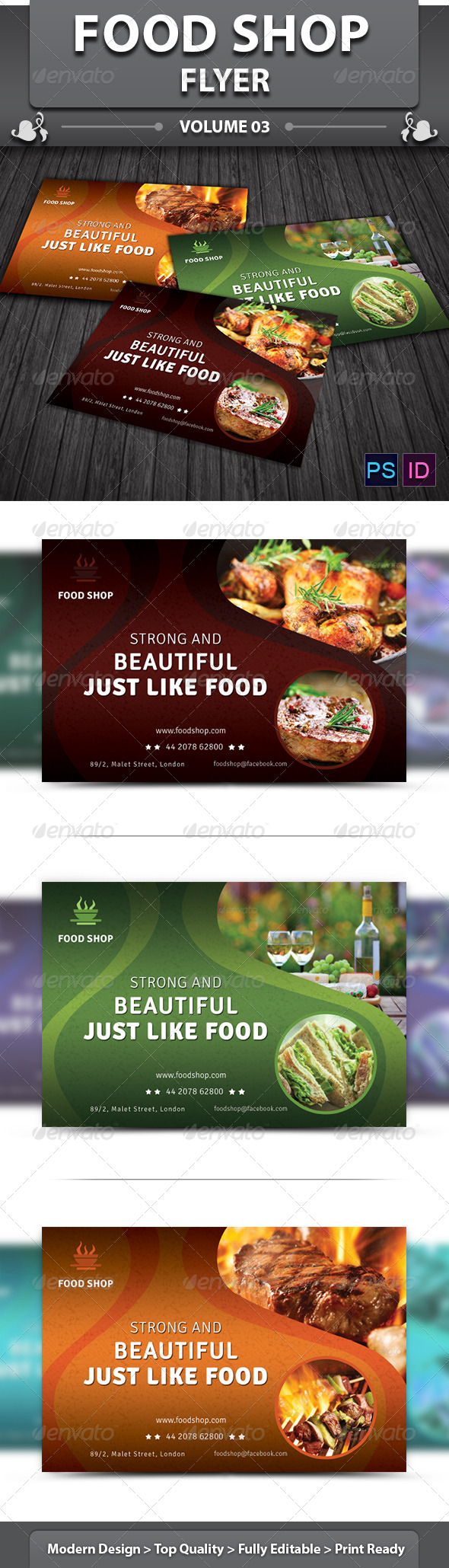 Restaurant Business Flyer | Volume 13 - Restaurant Flyers