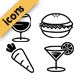 Modern-Minimalist Food Icons - GraphicRiver Item for Sale
