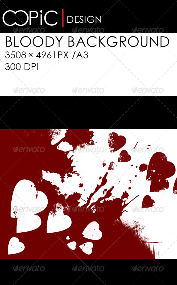 GraphicRiver Hearts Abstract Background 5741969