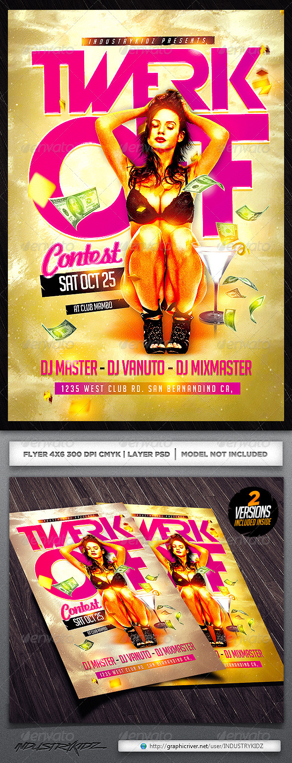 Twerk Flyer Template - Clubs & Parties Events