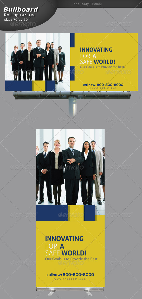 GraphicRiver Business Billboard and Rollup Banner 5742065