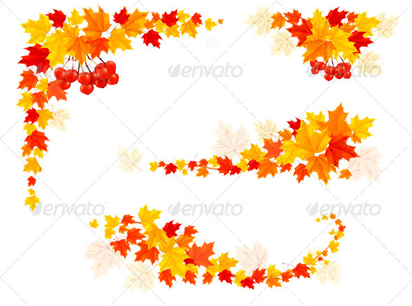 GraphicRiver Autumn Backgrounds with Leaves 5742081