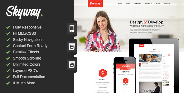 Skyway | Responsive One Page Portfolio