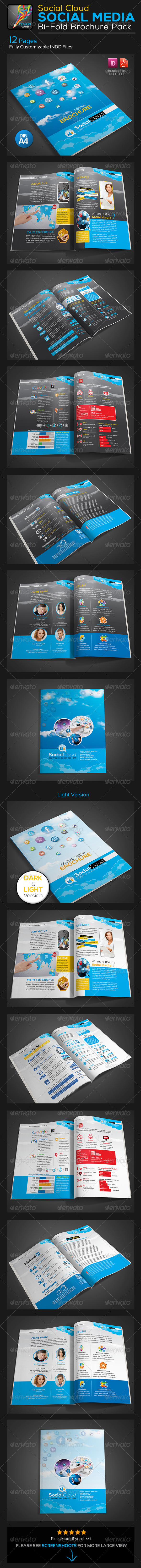 GraphicRiver Social Cloud Social Media 12 Pages Brochure 5742910